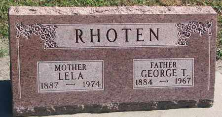 RHOTEN, GEORGE T. - Union County, South Dakota | GEORGE T. RHOTEN - South Dakota Gravestone Photos
