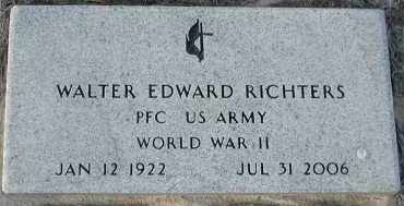 RICHTERS, WALTER EDWARD (WORLD WAR II) - Union County, South Dakota | WALTER EDWARD (WORLD WAR II) RICHTERS - South Dakota Gravestone Photos