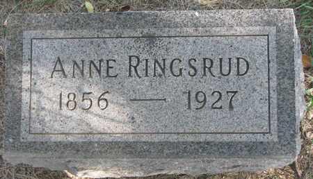 RINGSRUD, ANNE - Union County, South Dakota   ANNE RINGSRUD - South Dakota Gravestone Photos
