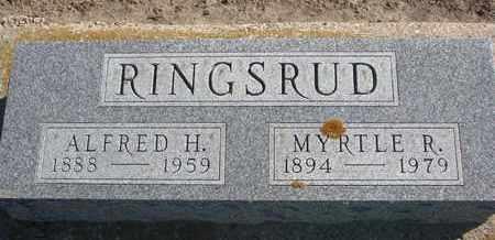 RINGSRUD, ALFRED H. - Union County, South Dakota   ALFRED H. RINGSRUD - South Dakota Gravestone Photos
