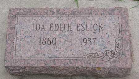 ESLICK, IDA EDITH - Union County, South Dakota | IDA EDITH ESLICK - South Dakota Gravestone Photos