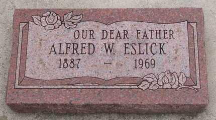 ESLICK, ALFRED W. - Union County, South Dakota   ALFRED W. ESLICK - South Dakota Gravestone Photos