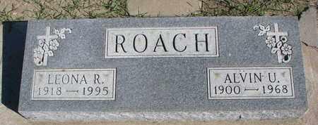 ROACH, ALVIN U. - Union County, South Dakota | ALVIN U. ROACH - South Dakota Gravestone Photos