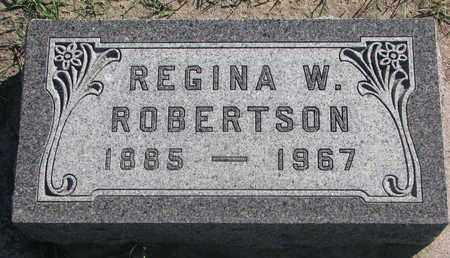 ROBERTSON, REGINA W. - Union County, South Dakota | REGINA W. ROBERTSON - South Dakota Gravestone Photos