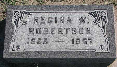 ROBERTSON, REGINA W. - Union County, South Dakota | REGINA W. ROBERTSON - South Dakota Gravestone Photos