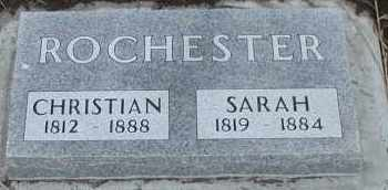 ROCHESTER, SARAH - Union County, South Dakota | SARAH ROCHESTER - South Dakota Gravestone Photos