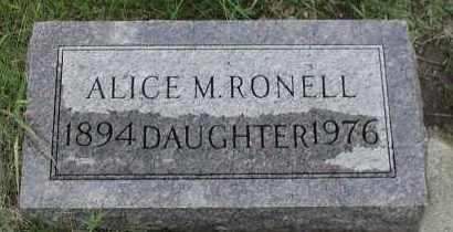 RONELL, ALICE M. - Union County, South Dakota | ALICE M. RONELL - South Dakota Gravestone Photos
