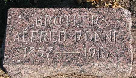 RONNE, ALFRED - Union County, South Dakota | ALFRED RONNE - South Dakota Gravestone Photos
