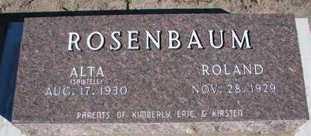 ROSENBAUM, ALTA - Union County, South Dakota | ALTA ROSENBAUM - South Dakota Gravestone Photos