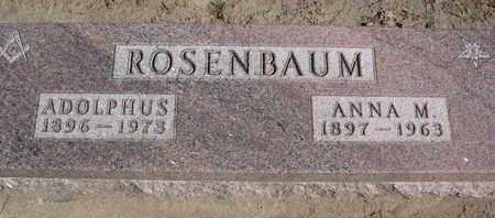 ROSENBAUM, ANNA M. - Union County, South Dakota | ANNA M. ROSENBAUM - South Dakota Gravestone Photos