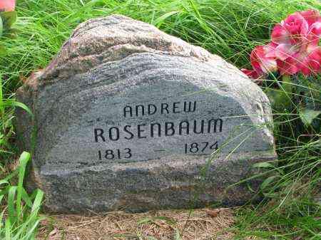 ROSENBAUM, ANDREW - Union County, South Dakota | ANDREW ROSENBAUM - South Dakota Gravestone Photos