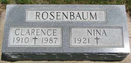 ROSENBAUM, CLARENCE - Union County, South Dakota | CLARENCE ROSENBAUM - South Dakota Gravestone Photos