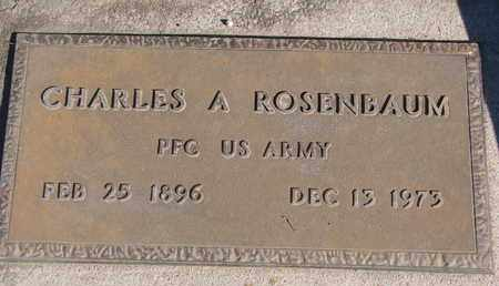 ROSENBAUM, CHARLES A. (MILITARY) - Union County, South Dakota | CHARLES A. (MILITARY) ROSENBAUM - South Dakota Gravestone Photos