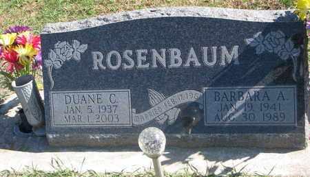 ROSENBAUM, BARBARA A. - Union County, South Dakota | BARBARA A. ROSENBAUM - South Dakota Gravestone Photos