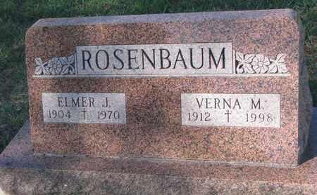ROSENBAUM, ELMER J. - Union County, South Dakota   ELMER J. ROSENBAUM - South Dakota Gravestone Photos