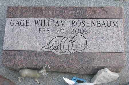 ROSENBAUM, GAGE WILLIAM - Union County, South Dakota | GAGE WILLIAM ROSENBAUM - South Dakota Gravestone Photos