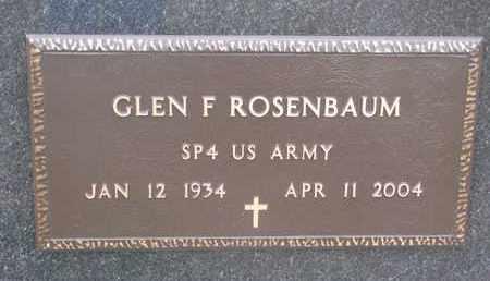 ROSENBAUM, GLEN F. (MILITARY) - Union County, South Dakota   GLEN F. (MILITARY) ROSENBAUM - South Dakota Gravestone Photos