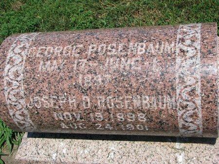 ROSENBAUM, GEORGE - Union County, South Dakota | GEORGE ROSENBAUM - South Dakota Gravestone Photos