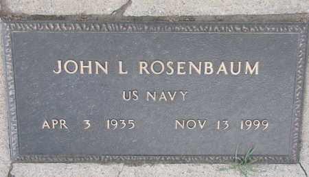 ROSENBAUM, JOHN (US NAVY) - Union County, South Dakota | JOHN (US NAVY) ROSENBAUM - South Dakota Gravestone Photos