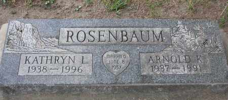 ROSENBAUM, KATHRYN L. - Union County, South Dakota | KATHRYN L. ROSENBAUM - South Dakota Gravestone Photos