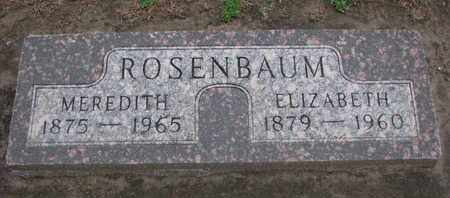 ROSENBAUM, MEREDITH - Union County, South Dakota | MEREDITH ROSENBAUM - South Dakota Gravestone Photos