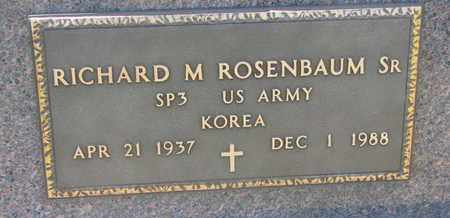 ROSENBAUM, RICHARD M. SR. (MILITARY) - Union County, South Dakota | RICHARD M. SR. (MILITARY) ROSENBAUM - South Dakota Gravestone Photos