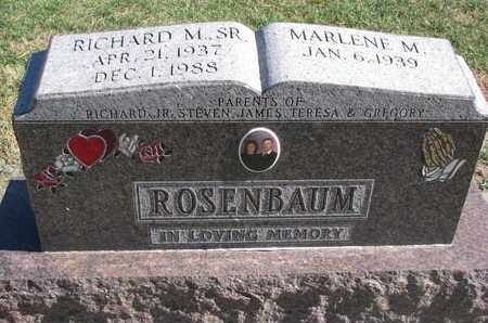 ROSENBAUM, RICHARD M. SR. - Union County, South Dakota | RICHARD M. SR. ROSENBAUM - South Dakota Gravestone Photos