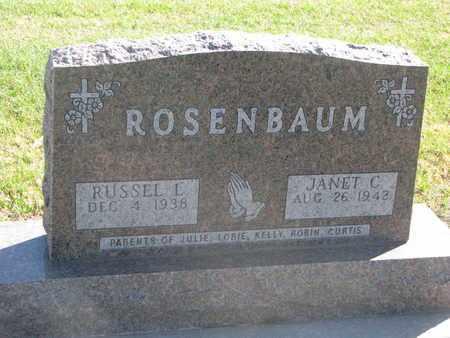 ROSENBAUM, RUSSEL L. - Union County, South Dakota   RUSSEL L. ROSENBAUM - South Dakota Gravestone Photos