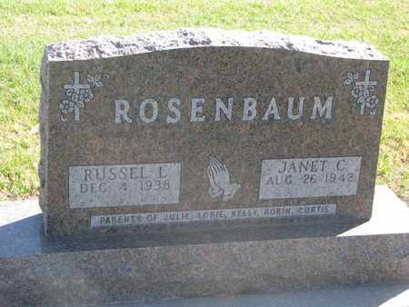ROSENBAUM, JANET C. - Union County, South Dakota | JANET C. ROSENBAUM - South Dakota Gravestone Photos