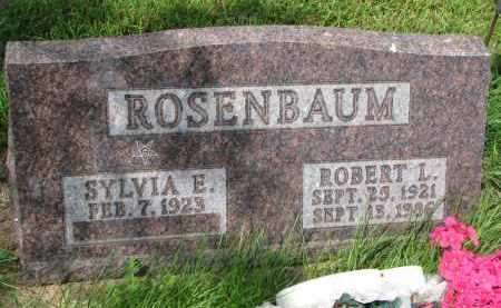 ROSENBAUM, SYLVIA E. - Union County, South Dakota | SYLVIA E. ROSENBAUM - South Dakota Gravestone Photos