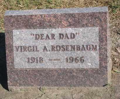 ROSENBAUM, VIRGIL A. - Union County, South Dakota   VIRGIL A. ROSENBAUM - South Dakota Gravestone Photos