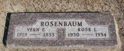 ROSENBAUM, VERN E. - Union County, South Dakota | VERN E. ROSENBAUM - South Dakota Gravestone Photos