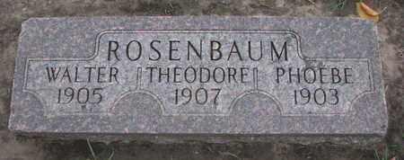 ROSENBAUM, WALTER - Union County, South Dakota | WALTER ROSENBAUM - South Dakota Gravestone Photos