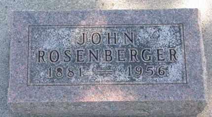 ROSENBERGER, JOHN - Union County, South Dakota | JOHN ROSENBERGER - South Dakota Gravestone Photos