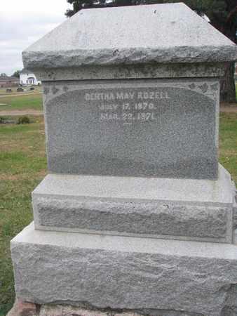 ROZELL, BERTHA MAY - Union County, South Dakota | BERTHA MAY ROZELL - South Dakota Gravestone Photos