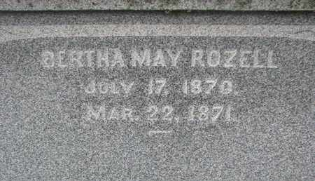 ROZELL, BERTHA MAY (CLOSEUP) - Union County, South Dakota | BERTHA MAY (CLOSEUP) ROZELL - South Dakota Gravestone Photos