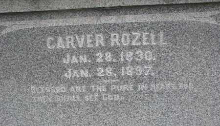 ROZELL, CARVER (CLOSEUP) - Union County, South Dakota | CARVER (CLOSEUP) ROZELL - South Dakota Gravestone Photos