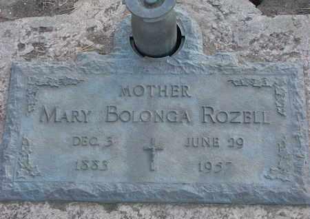 ROZELL, MARY BOLONGA - Union County, South Dakota   MARY BOLONGA ROZELL - South Dakota Gravestone Photos