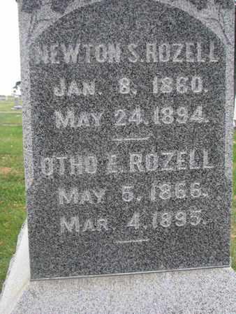 ROZELL, OTHO E. (CLOSEUP) - Union County, South Dakota | OTHO E. (CLOSEUP) ROZELL - South Dakota Gravestone Photos
