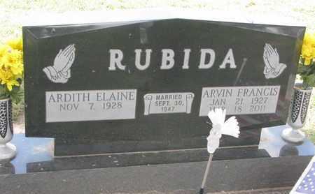 RUBIDA, ARVIN FRANCIS - Union County, South Dakota | ARVIN FRANCIS RUBIDA - South Dakota Gravestone Photos