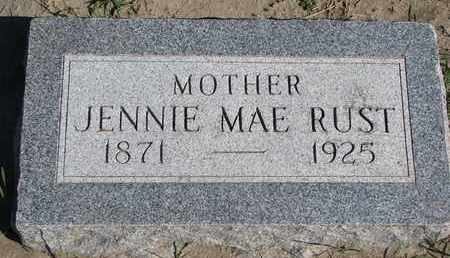 RUST, JENNIE MAE - Union County, South Dakota | JENNIE MAE RUST - South Dakota Gravestone Photos