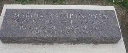RYAN, MARION KATHRYN - Union County, South Dakota | MARION KATHRYN RYAN - South Dakota Gravestone Photos