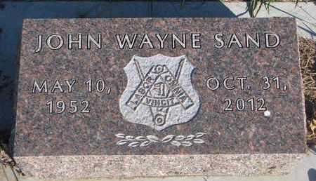 SAND, JOHN WAYNE - Union County, South Dakota   JOHN WAYNE SAND - South Dakota Gravestone Photos