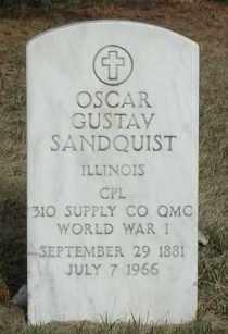 SANDQUIST, OSCAR GUSTAV - Union County, South Dakota | OSCAR GUSTAV SANDQUIST - South Dakota Gravestone Photos