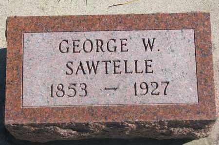 SAWTELLE, GEORGE W. - Union County, South Dakota | GEORGE W. SAWTELLE - South Dakota Gravestone Photos