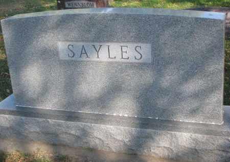 SAYLES, FAMILY STONE - Union County, South Dakota   FAMILY STONE SAYLES - South Dakota Gravestone Photos
