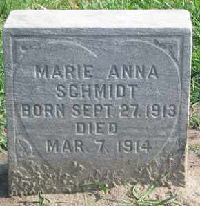 SCHMIDT, MARIE ANNA - Union County, South Dakota | MARIE ANNA SCHMIDT - South Dakota Gravestone Photos