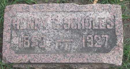 SCHOLES, HENRY C. - Union County, South Dakota   HENRY C. SCHOLES - South Dakota Gravestone Photos