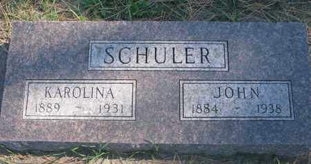 SCHULER, JOHN - Union County, South Dakota | JOHN SCHULER - South Dakota Gravestone Photos