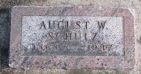 SCHULZ, AUGUST W. - Union County, South Dakota   AUGUST W. SCHULZ - South Dakota Gravestone Photos